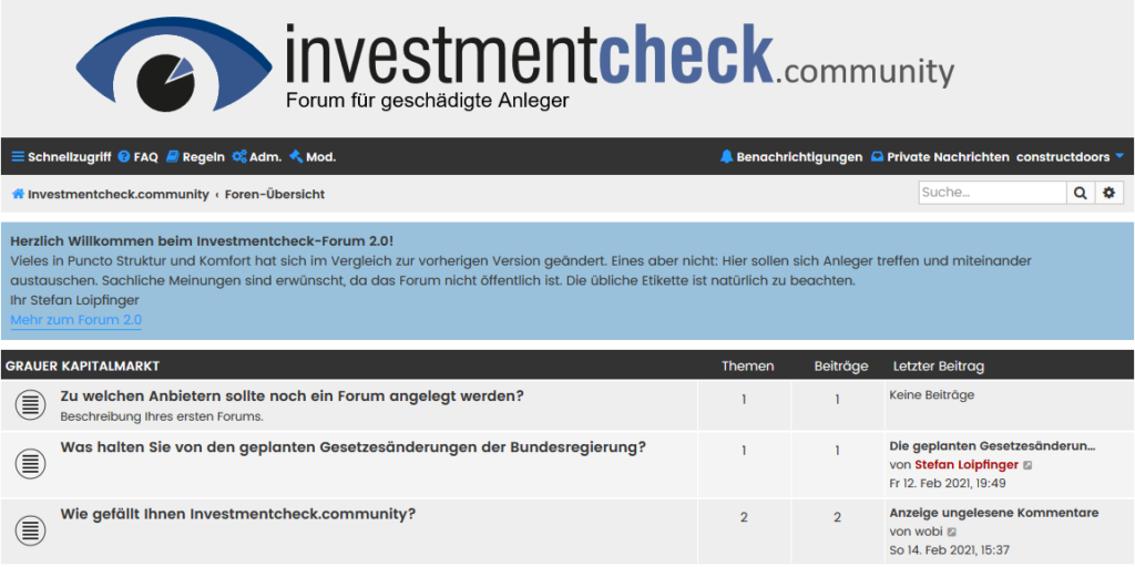 Forum Investmentcheck.community