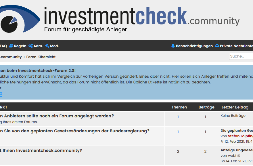 Forum Investmentcheck.community
